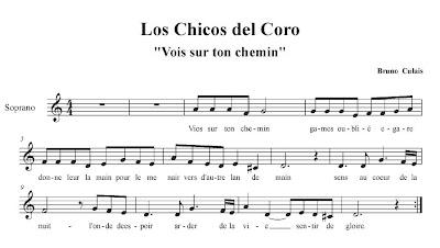 "Les Choristes Los Chicos del Coro ""Vois sur ton chermin"". BSO y Partitura para Flauta."
