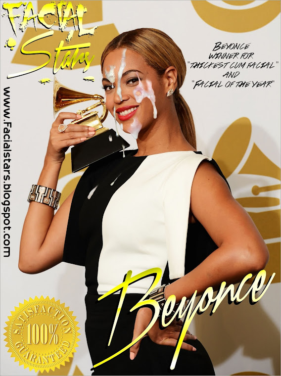 Beyonce winning her facial of the year award