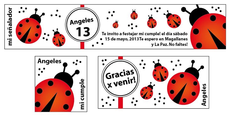 Tarjetas de vaquitas de san antonio - Imagui