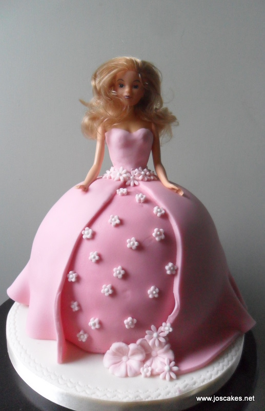 Princess Doll Cake Pictures : Jo s Cakes: Barbie-Style Princess Doll Cake