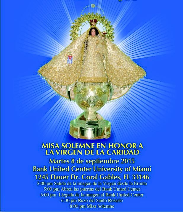 Exilio: Misa Solemne en honor a la Virgen de la Caridad del Cobre
