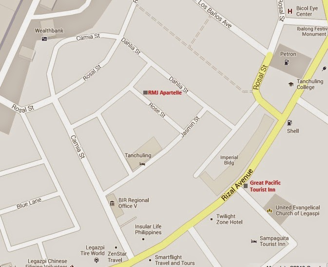 Mustachioventures Affordable Accommodations In Legazpi City - Legazpi city map