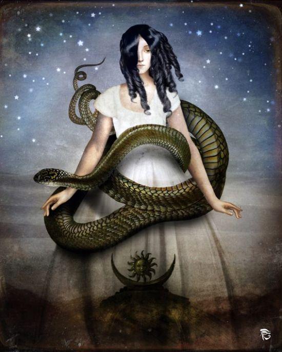 Christian Schloe ilustração digital surreal onírica sonhos A sereia