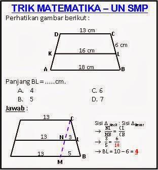 Belajar Matematika Online Soal Un Matematika Smp