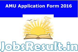 AMU Application Form 2016
