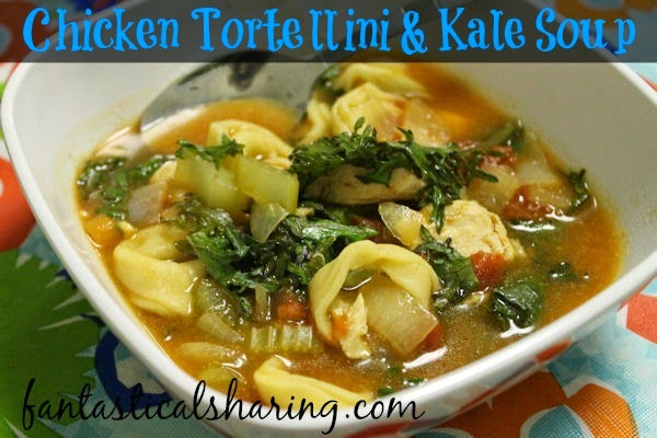 Chicken, Tortellini, & Kale Soup | www.fantasticalsharing.com | #recipe #soup #chicken