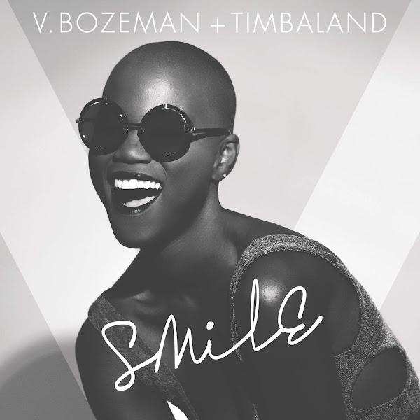 V. Bozeman & Timbaland - Smile - Single Cover
