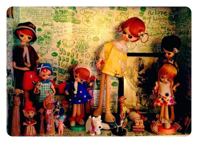 Vintage pose doll collection