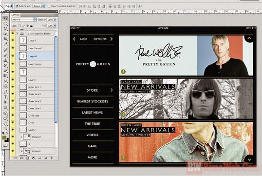 Creating Shop App Interface for iPad with Photoshop