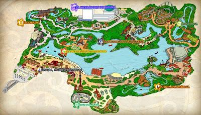 Isla Mágica mapa atracciones