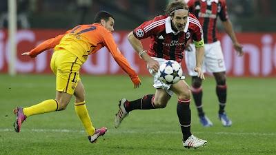 Hasil Leg 1 Champions League Milan vs Barcelona