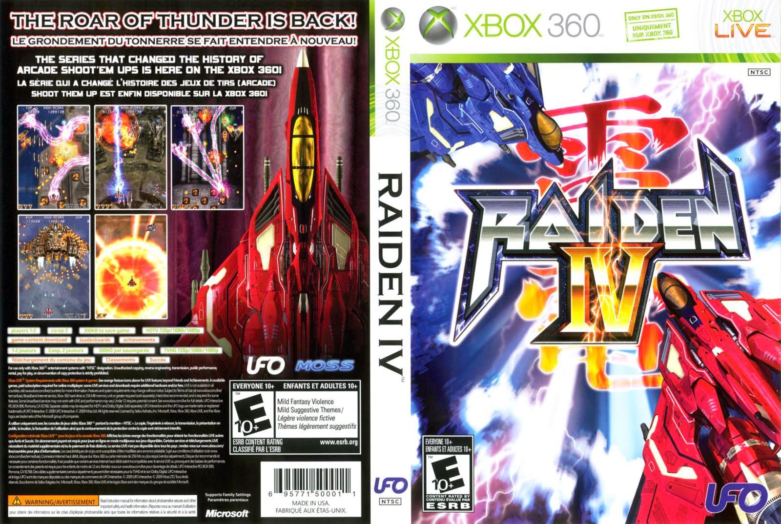 Capa Raiden IV XBOX 360