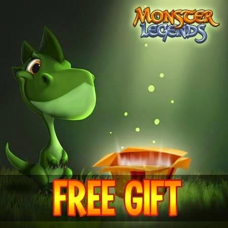 imagen de ganar un premio gratis en monster legends