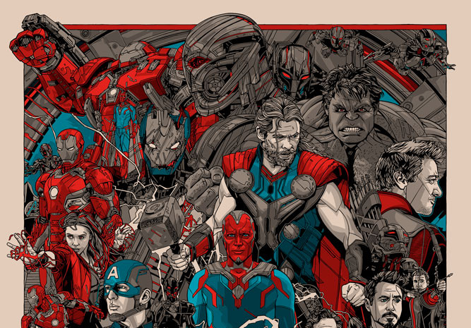 Avengers: Age of Ultron by Tyler Stout &Hero Complex Gallery