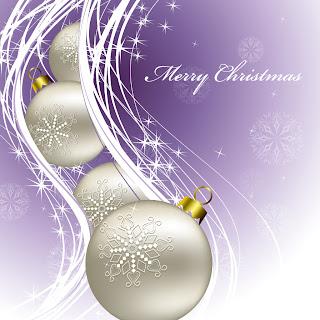 光が波打つクリスマス ボールの背景 christmas background vector イラスト素材1