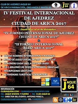 IV FESTIVAL INTERNACIONAL DE AJEDREZ CIUDAD DE ARICA 2017