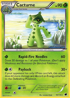 Cacturne Plasma Freeze Pokemon Card