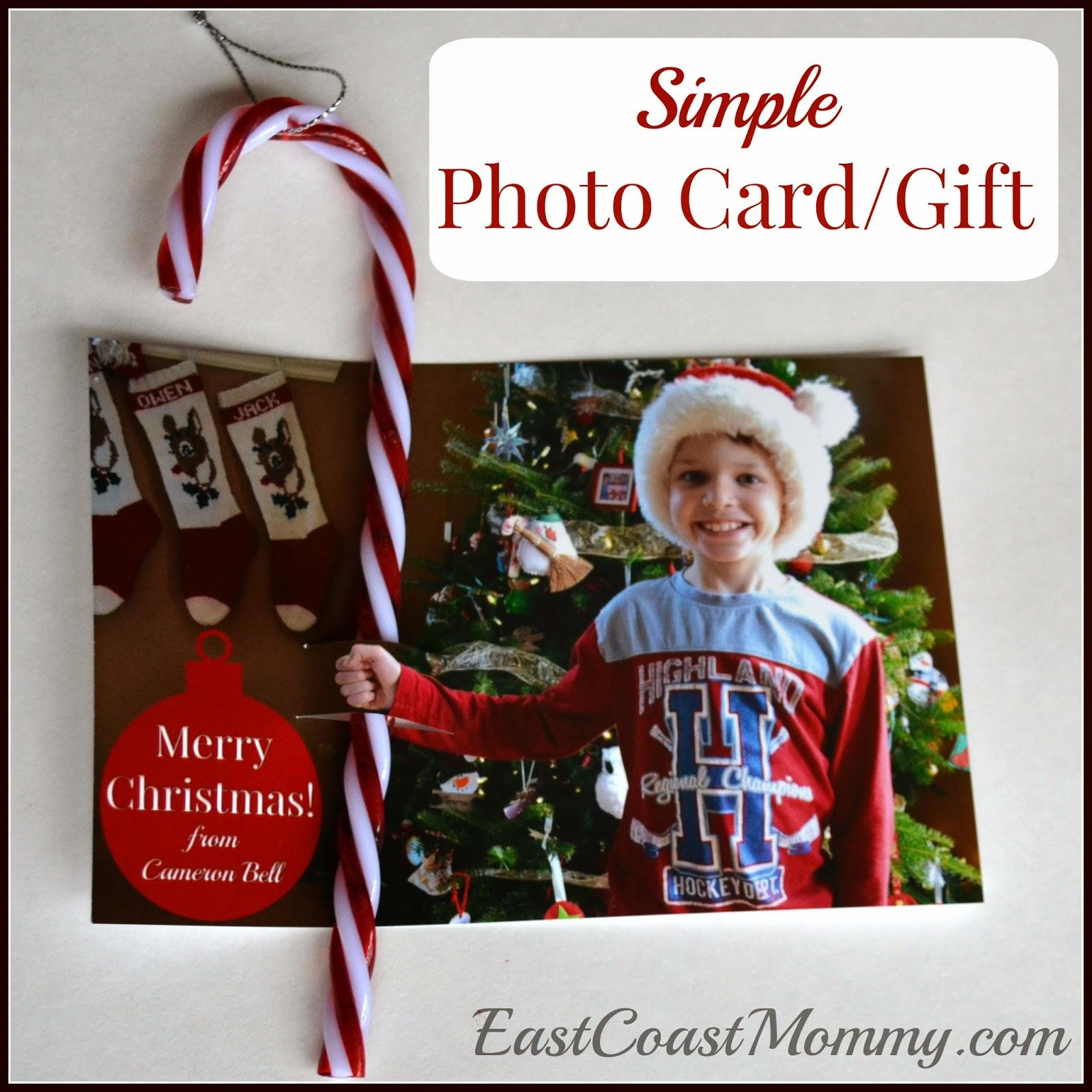 East Coast Mommy: Homemade Christmas Card