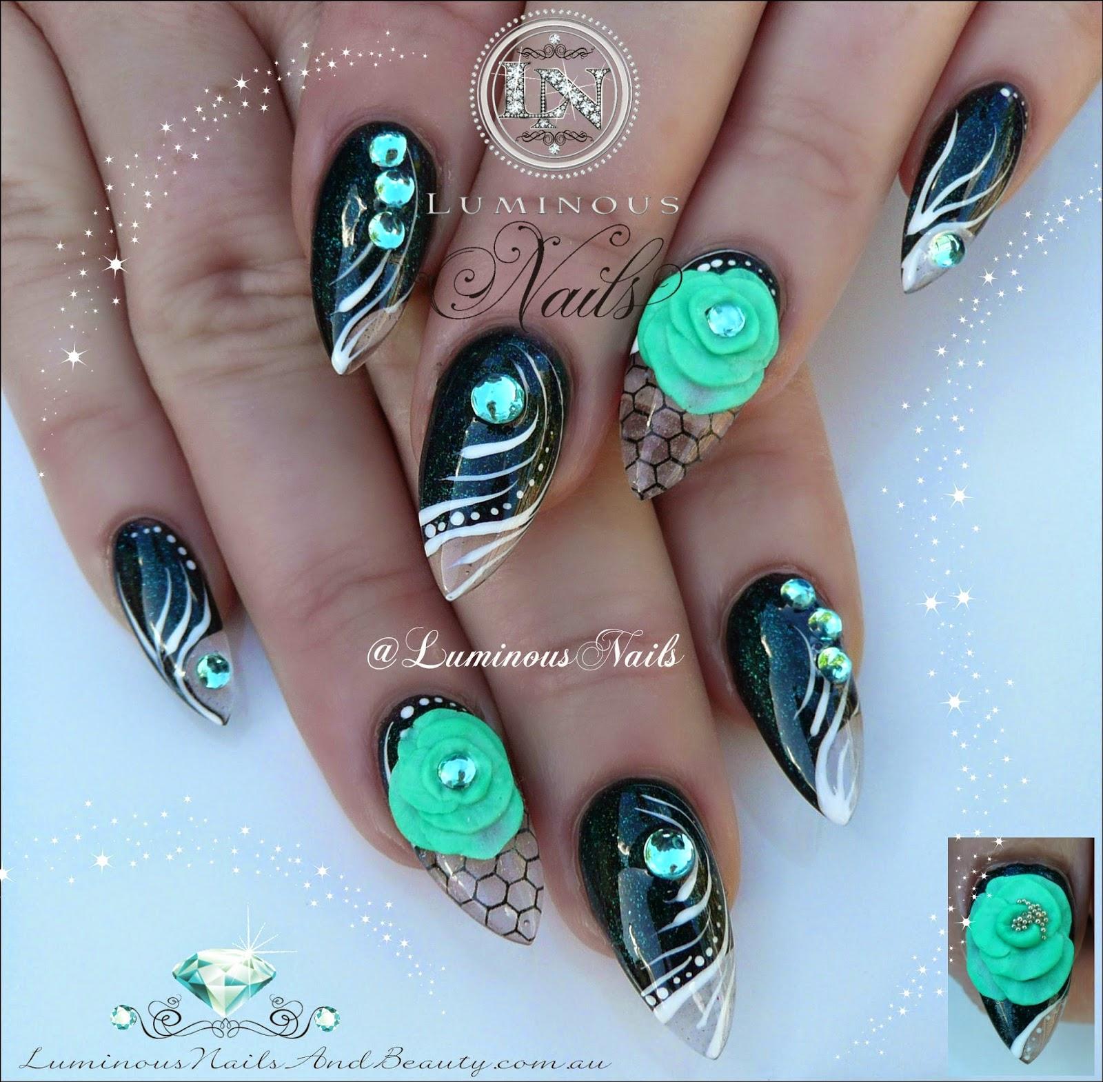Fine 3d Stiletto Nails Photo Motif