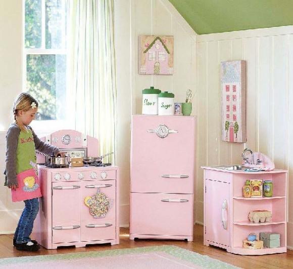 Muebles de cocina de madera para ni as for Cocinas de color rosa
