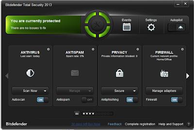 Bitdefender Total Security 2013 Download Bitdefender Total Security 2013 Full + Crack Until 2045 Dan Cara Update