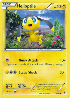 Helioptile Phantom Forces Pokemon Card