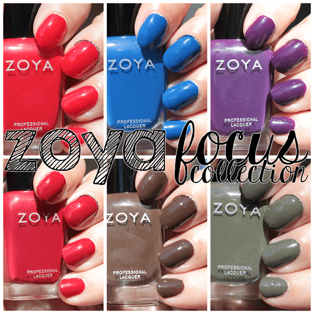 Zoya Focus Collection swatches and review