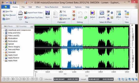 Edita gratis tus pistas de audio con Power Sound Editor