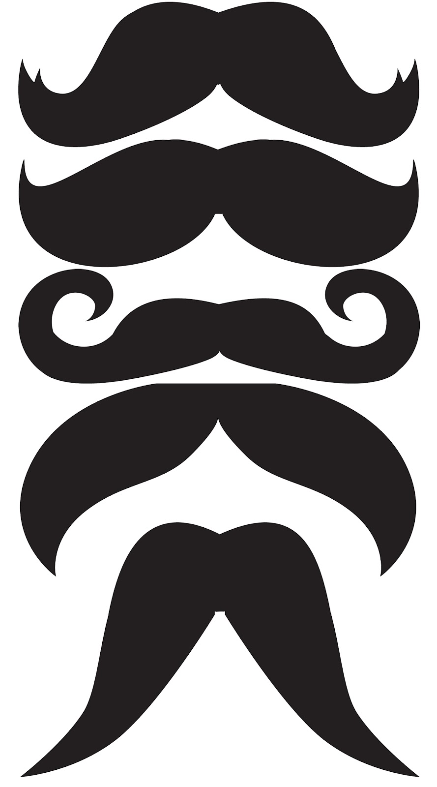 mustache print out template - sew fantastic moustache mug rug tutorial
