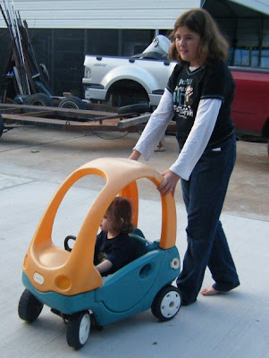 Sasha & Tyler with Birthday Car