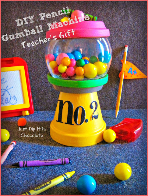DIY Gumball Machine from Just Dip It In Chocolate