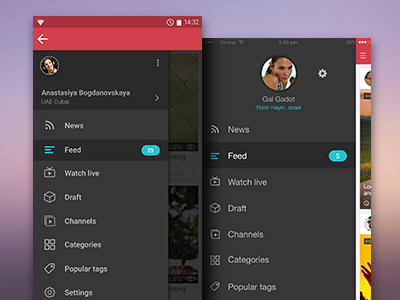 Android Navigation Drawer User Interface Design