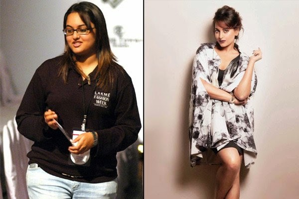 Sonakshi Sinha Pics Before and After Weight Loss