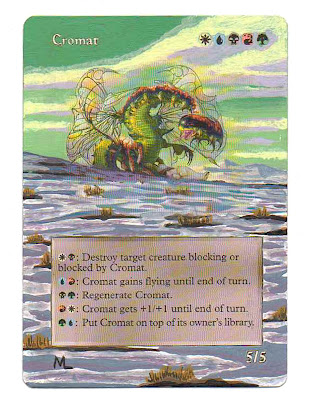 Cromat Magic the Gathering Art Altered Art Magic the gathering artwork mtg card art Marc Lake gold card Cromat MTG altered art