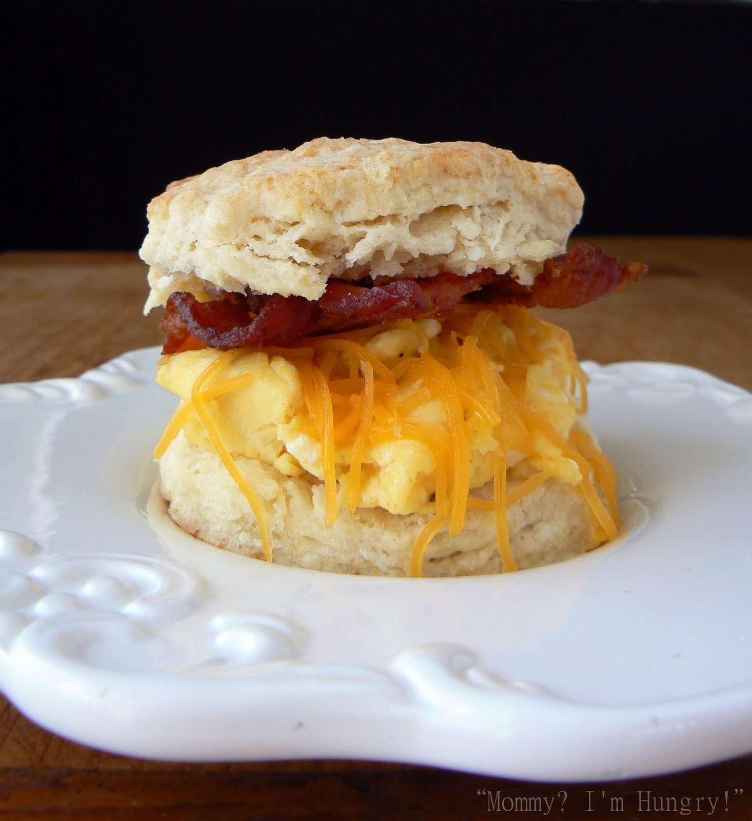 Buttermilk Biscuits with Bacon, Eggs and Cheddar.