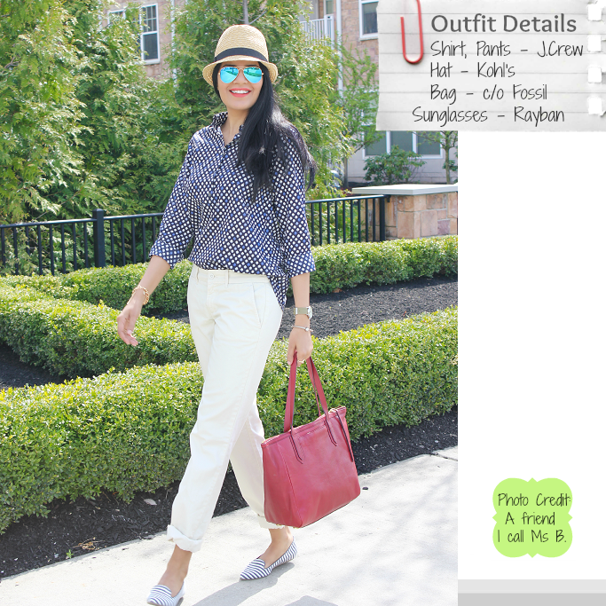 JCrew Popover Shirt, Waverly Chino, Andie Chino, Spring Outfit Ideas, Rayban Mirror Aviators, Rayban Blue Mirror Sunglasses