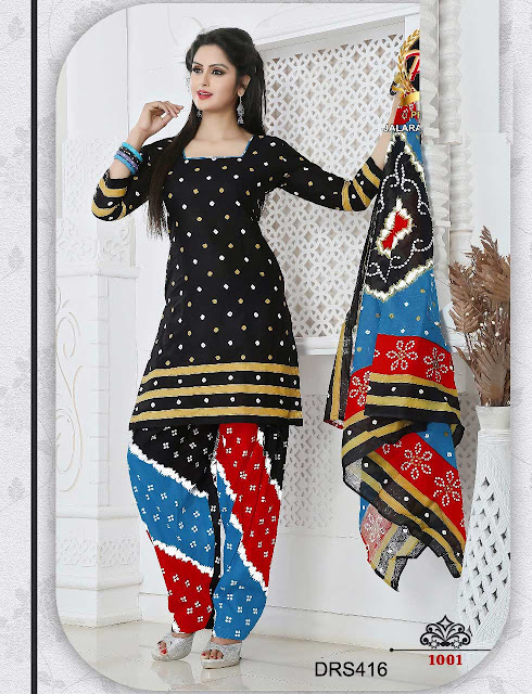 Latest Cotton Bandhni Dress Material