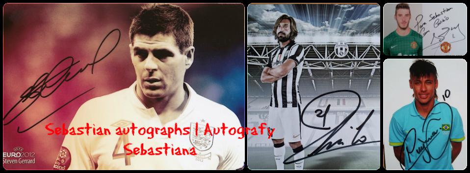 Sebastian autographs | Autografy Sebastiana