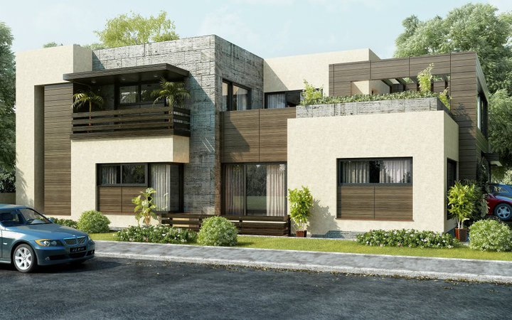 Front Elevation Modern House | Modern Architecture Decorating ...