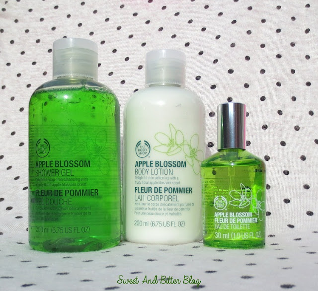 The Body Shop Apple Blossom Shower Gel, Body Lotion and EDT Review