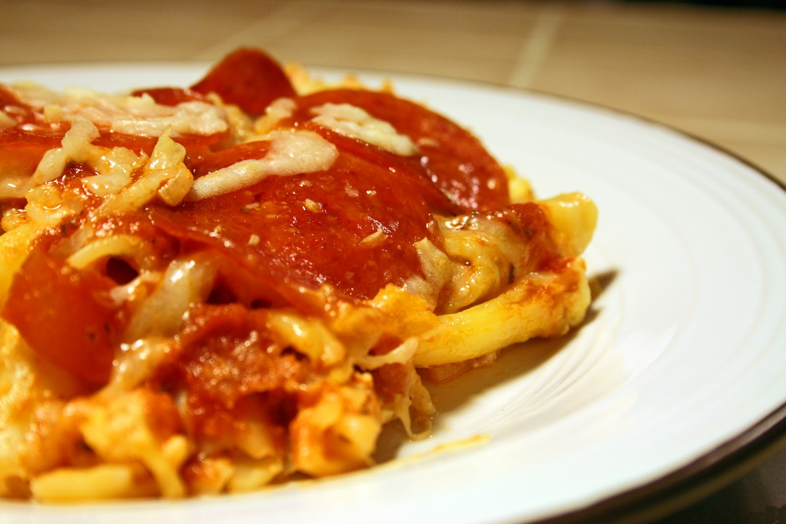 Lazy Gluten Free: Cheesy Pepperoni Casserole
