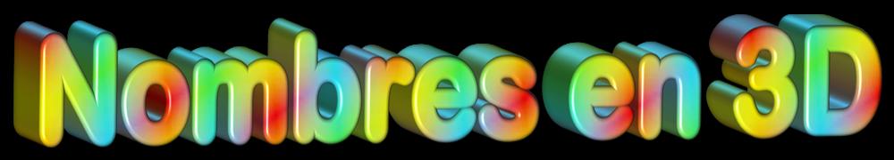 Nombres en 3D gratis
