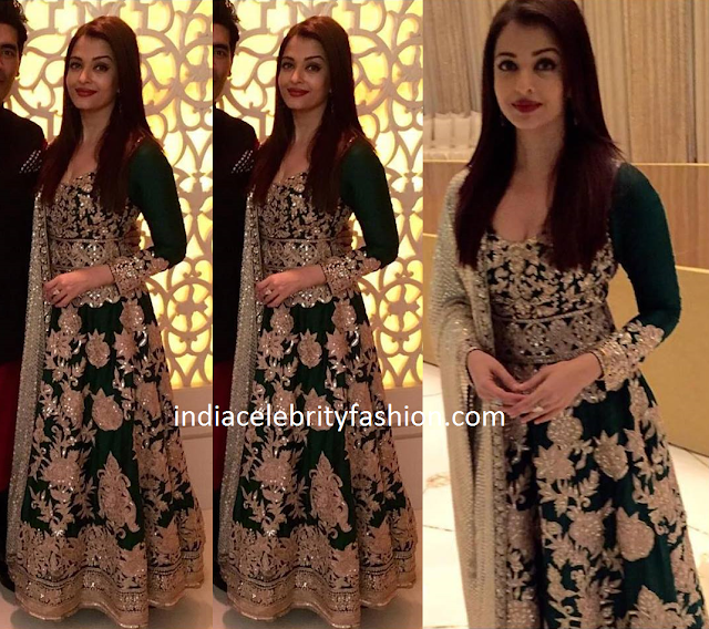 Aishwarya rai in Manish malhotra Rich Work Anarkali