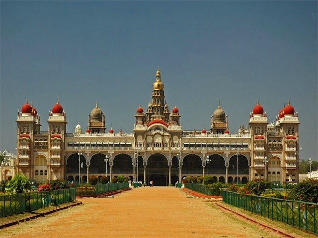 View of Mysore Palace in Karnataka