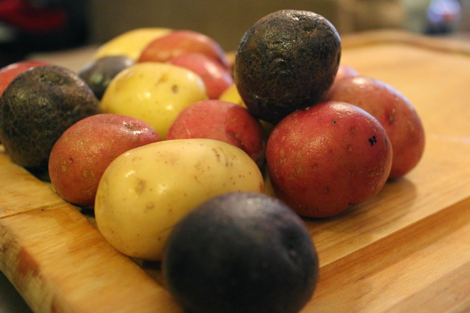 Treasuring Simplicity: Roasted Multi-Colored Potatoes