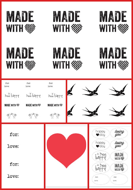 Free Printable Valentine's Day Labels from The Blog Guidebook