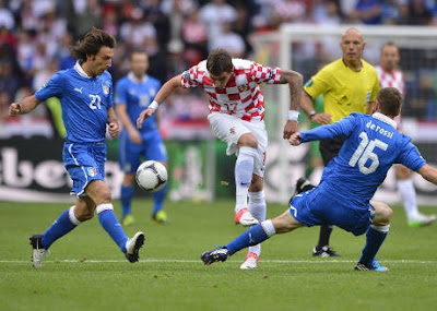 Hasil Skor Pertandingan Italia vs Kroasia Euro 2012