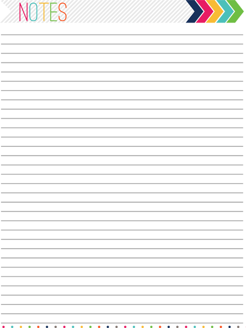 Witty image throughout printable note pages