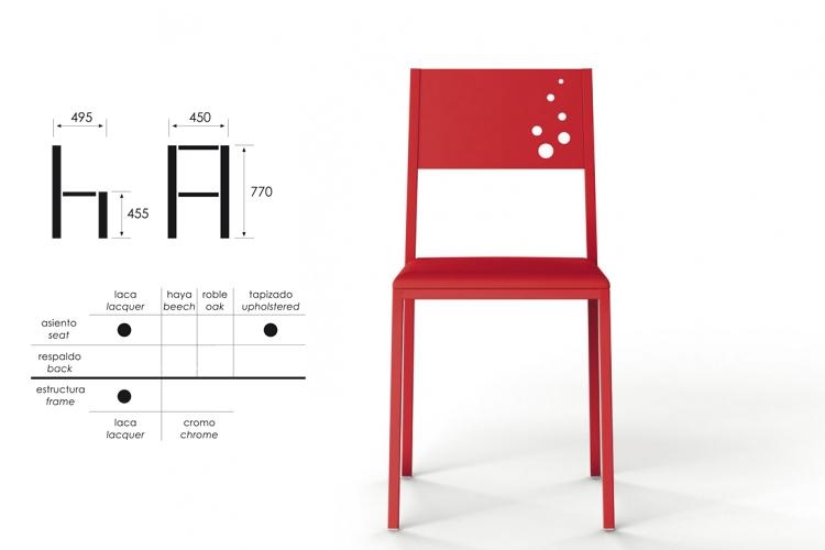 medidas silla cocina