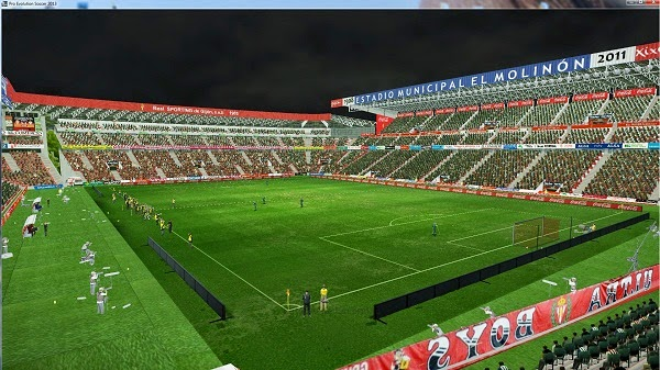 Pes 2013 estadio del molin n sporting de gij n by swanchester united pes patch - Estadio del sporting de gijon ...